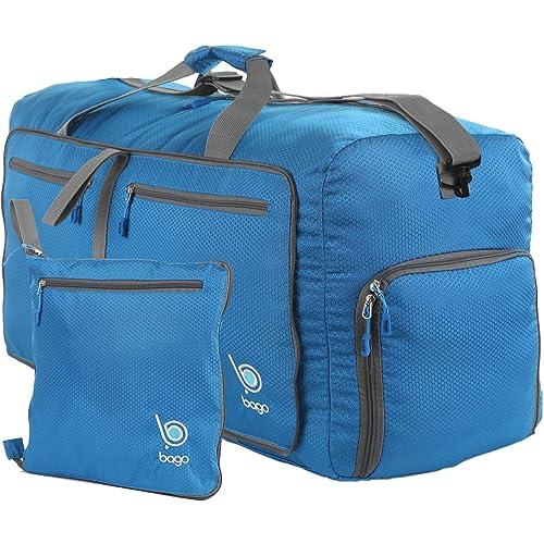 Bago 60L Duffle bags for men   women - Foldable Travel Duffel weekender bag 4d241d633cd37