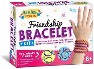 Peachy Keen Crafts DIY Friendship Bracelet Kit - Make Your Own Jewelry Set - Perfect Holiday Present