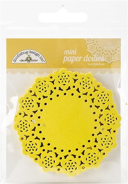 75 Pack Doodlebug Mini Doilies Bumblebee