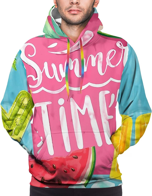 Hoodie For Mens Womens Teens Watermelon Icecream Summer Time Pullover Hooded Sports Sweatshirt