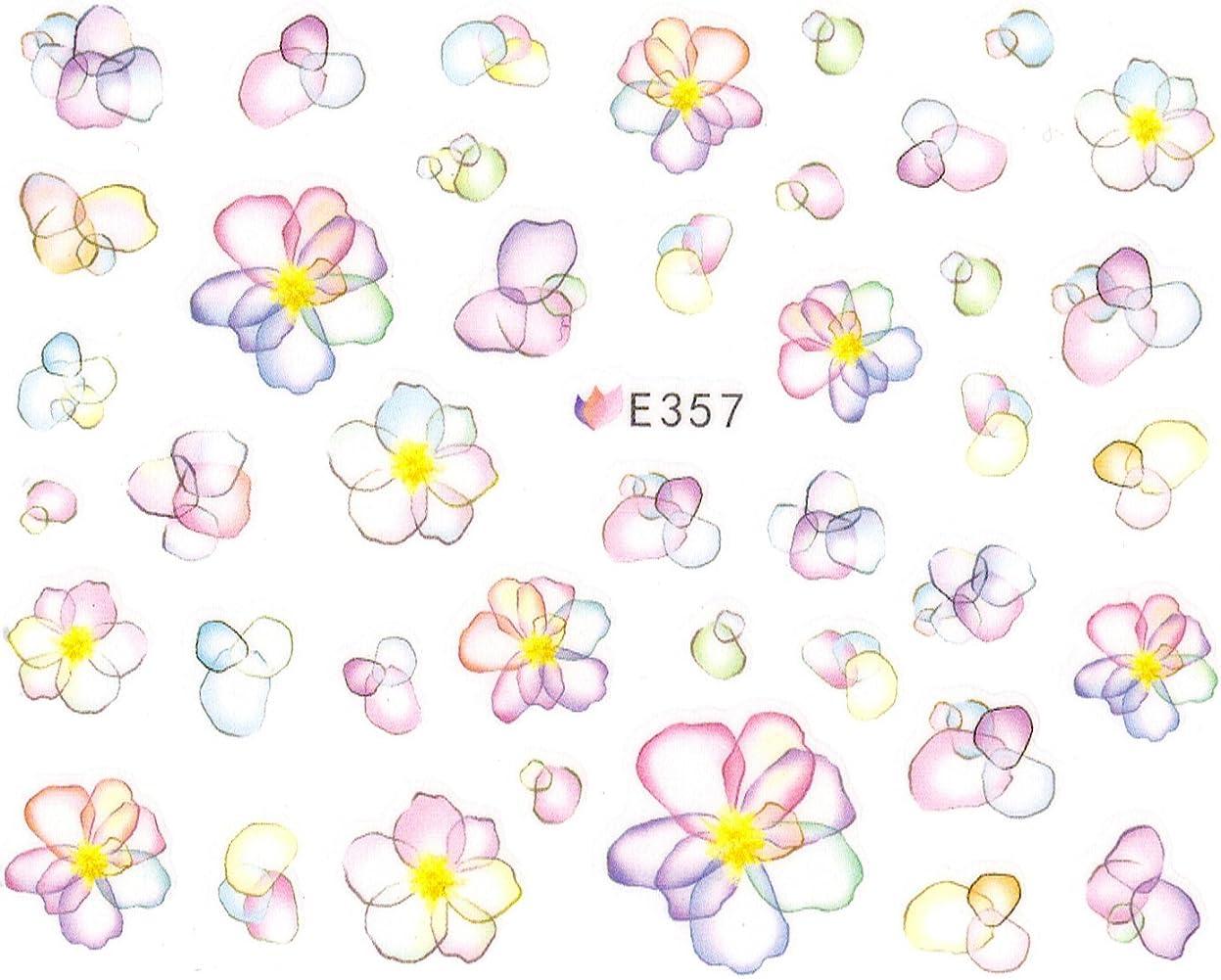 オーチャードディスパッチ音節ネイルシール 水彩風 花 フラワー 選べる10種類 (03-T32)
