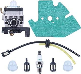 Haishine Carburador Junta de carburador Juego de mangueras de la línea de Combustible de la bujía para Honda GX25 GX35 GX 25 35 HHT35 HHT35S FG110 Cortacéspedes con cortacéspedes