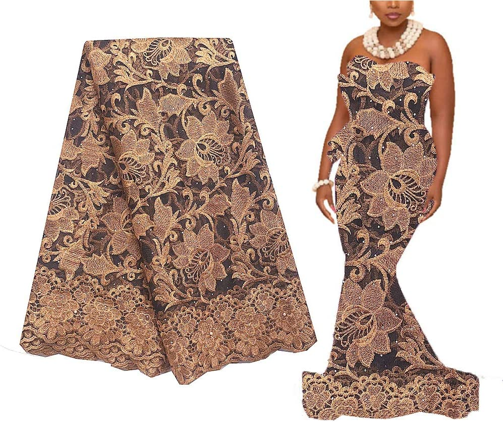 Long-awaited African Lace Fabric WorthSJLH French 2020 Gold Direct stock discount Niger