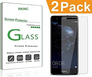 RKINC for Huawei P10 Lite Screen Protector, [2 Pack] Crystal Clear Tempered Glass Screen Protector [9H Hardness][2.5D Edge][0.33mm Thickness][Scratch Resist] for Huawei P10 Lite
