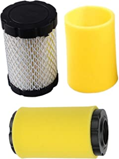 Podoy 796031 Air Filter for Briggs and Stratton with Pre Filter 797704 594201 591334 796031 John Deere MIU13038 GY21435 MIU13963 Lawn Mower