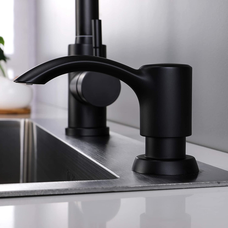 GAGALIFE Chrome Built in Kitchen Sink Soap Dispenser Chrome Finish with large bottle