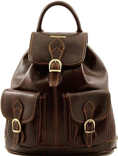 Tuscany Leather Tokyo Exklusiver Rucksack aus Leder Dunkelbraun