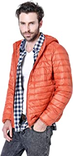 Gihuo Men's Winter Lightweight Packable Quilted Hooded Down Coat Puffer Jacket