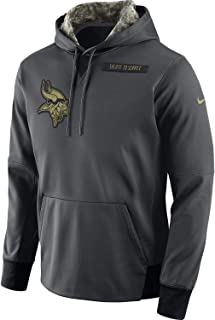 Minnesota Vikings 2016 NFL Salute to Service Men's STS Anthracite Therma Hoody (XX-Large)