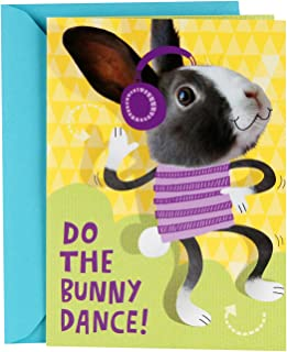 Hallmark Pop Up Easter Card for Kids (Displayable Dancing Bunny With Flowers)