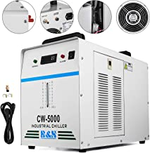 Mophorn Water Chiller 6L Capacity Industrial Water Chiller CW5000DG Thermolysis Type Industrial Water Cooling Chiller for 80W to 100W Laser Engraving Machine (CW5000DG)