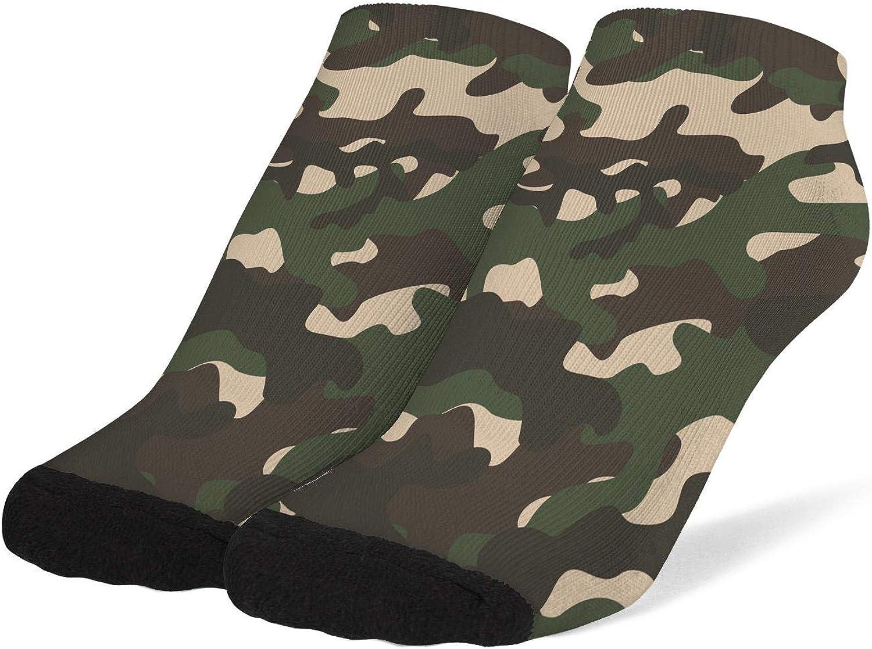 Women's Classic Camo Fashion Camouflage Socks Cotton No Show Low Cut Sock Ankle Socks