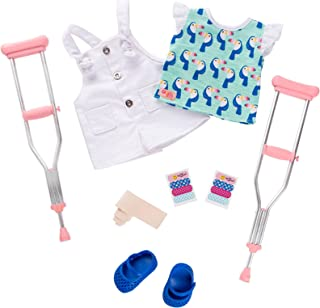 "Our Generation ""Booboo Kisses"" Deluxe Outfit with Crutches for 18"" Dolls"