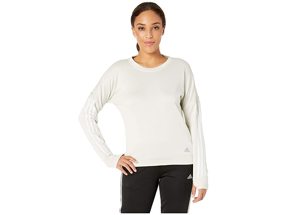 adidas Response Long Sleeve Shirt (Raw White/White) Women