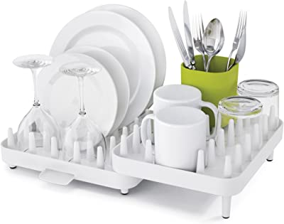 Joseph Joseph 7085034WH Connect Adjustable 3-Piece Dish Rack, White