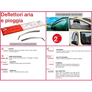 RICAMBIITALIA2017 Kit Deflettori Aria Antivento paravento antiturbo Antipioggia Anteriori 19.619