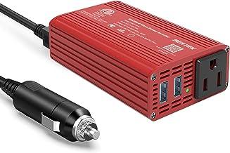 BESTEK 150W Car Power Inverter DC 12V to 110V AC Car Inverter with Dual 2.4A USB Charging Ports Modified Sine Wave Converter for Car Cigarette Lighter, Power Inverter with AC Outlet for Car