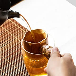 Motonupic Natural Bamboo Tea Filter Strainer With Handle Drinkware - Strainer Screen Filter Strainers Strainer Coffee Filter Bamboo Teapot Brew Puer Glass Stainless Infuse Chinese Colander