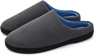 Abimy Coppia Stile Mezza Trascinare Cotone Pantofole Ispessite Caldo Inverno Forniture Domestiche