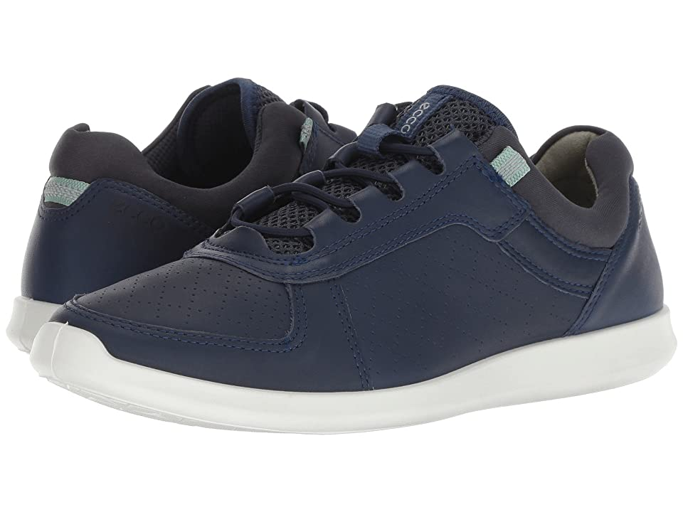 ECCO Sense Toggle (True Navy Yak Leather) Women's Lace up casual Shoes