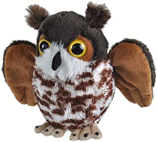 Wild Republic Great Horned Owl Plush, Stuffed Animal, Plush Toy, Kid Gifts, Cuddlekins, 5""