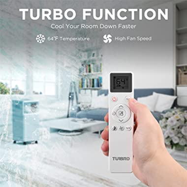 TURBRO Greenland 10,000 BTU Portable Air Conditioner, Dehumidifier and Fan, 3-in-1 Floor AC Unit for Rooms up to 400 Sq Ft, S