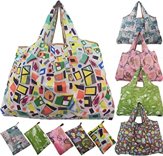 Extra Large Foldable Reusable Grocery Shopping Bags Pack of 5