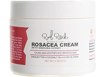 Red Rock Organics Rosacea Treatment Moisturizer Cream for Redness Relief - Naturally Soothe Red Skin and Ruddy Complexion - 2 oz
