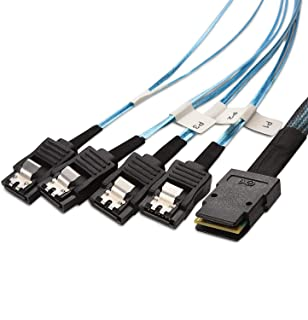 Cable Matters Internal Mini SAS to SATA Cable (SFF-8087 to SATA Forward Breakout) 3.3 Feet