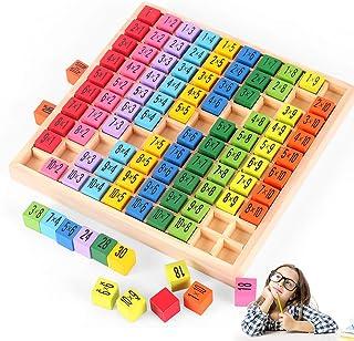 O-Kinee Trämatematikleksak, matematik lärande leksak, träräknebräda 1 x 1, trä multiplikationstabell, räkna räkna lärande,...