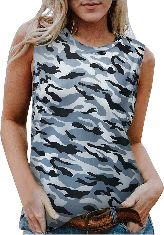 AODONG Womens Tank Tops Casual,Womens Cross Back Stripe Shirts Sleeveless Racerback Workout Crop Tops
