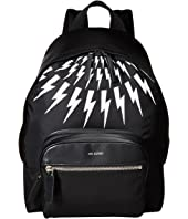 Neil Barrett - Thunder Bolt Fair Isle Nylon Backpack