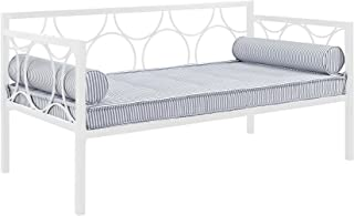 DHP Rebecca Metal Daybed Frame, Sofa Bed Fits Twin Size Mattress, White