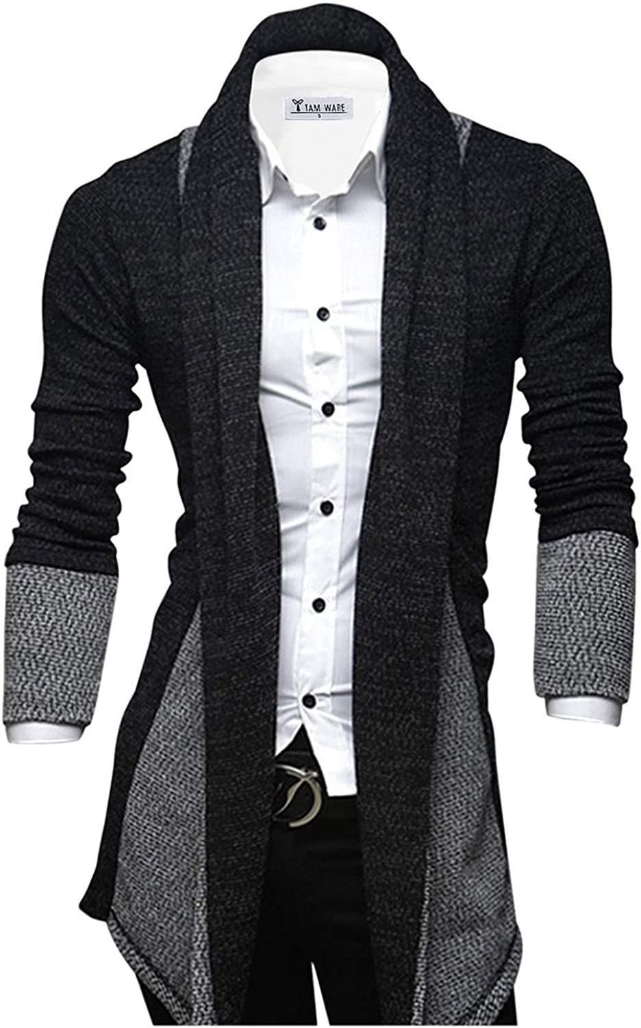 TAM WARE Mens Classic Fashion Max Max 51% OFF 71% OFF Collar Open-Front Marled Shawl Car