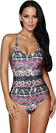 d481ba4586 Cali Chic® Juniors' Swimsuit Celebrity Stylish Gypsy Print One-Piece Bathing  Suit