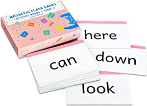 Attractivia Sight Words Magnetic Flash Cards Pre-K - 40 Large Cards for Literacy of Beginning Readers and ESL