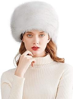قبعة الشتاء المحبوبة للنساء من الفراء الصناعي الروسي نمط الكوساك قبعة الشتاء لف