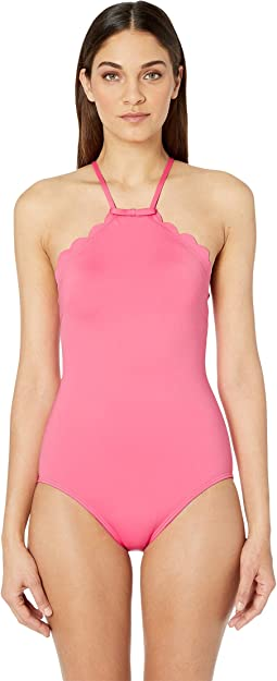 20513e7368 Kate spade new york pink sands beach 62 peep hole one piece swimsuit ...
