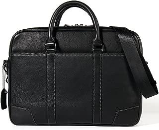 NYDZDM Mens Leather Briefcase Messenger Bag 15 Inch Laptop Shoulder Satchel Leisure Tote Crossbody Bag Black