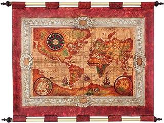 Tapiz en piel labrada Mapa del Mundo