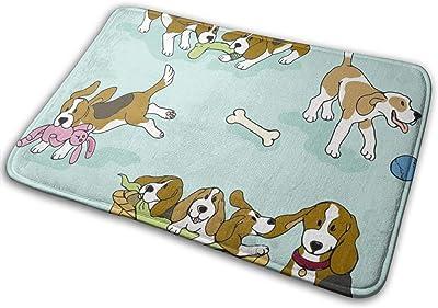 """Beagle 'Dog-Ma'_19993 Doormat Entrance Mat Floor Mat Rug Indoor/Outdoor/Front Door/Bathroom Mats Rubber Non Slip 23.6"""" X 15.8"""""""