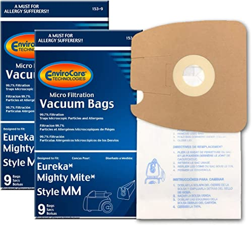 EnviroCare Replacement Micro Filtration Vacuum Cleaner Dust Bags Made to fit Eureka Style MM. Replaces Part# 60295C (...