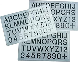 PARTH IMPEX Letter and Number Stencils (Pack of 3) Numeric Alphabet Painting Technical Drawing Template DIY Crafts Projects