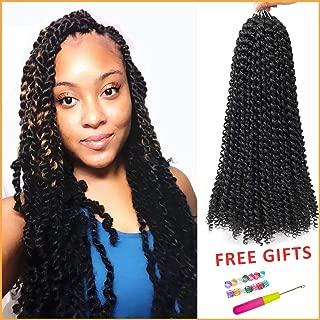 6 Packs Passion Twist Hair Water Wave Crochet Hair 18 Inch Bohemian Crochet Braids for Passion Twist Crochet Braiding Hair Kanekalon Low Temperature Synthetic Fiber (18