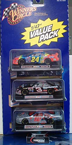 Winners Circle NASCAR Set of 3 Diecast Cars 1 43 by Hasbro