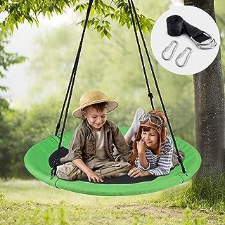 WV WONDER VIEW Tree Swing, Outdoor Swing with Hanging Strap Kit, 40 Inch Diameter 600lb..