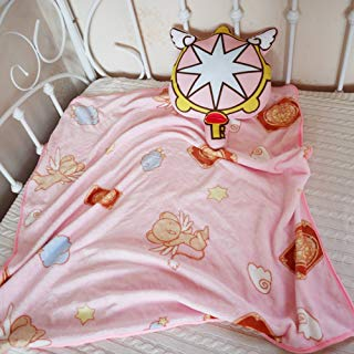 COSPROFE Japanese Anime Throw Blanket Coral Fleece Daily Nap Quilt with Stuffed Pillow (Key)