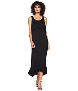 Viscose Jersey Ruffle Maxi Dress KS6K8226
