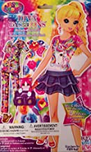 Lisa Frank Diva Fashions Dress Up Paper Sticker Doll(mix & match 15 fashions accessories) - Varied Character
