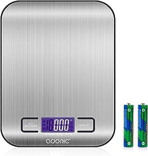 ADORIC Balance Cuisine Electronique Balance de Précision - Balance numérique de Cuisine de Haute Précision, 5kg/1g, Acier ...